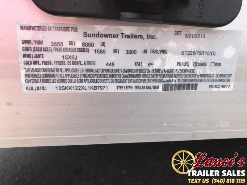 2020 Sundowner 12 Ft. Livestock Trailer