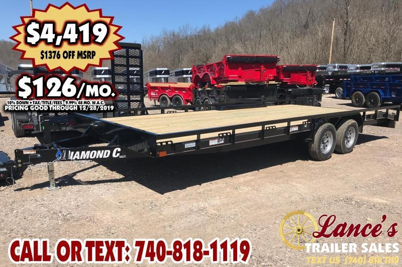 "*DEMO* 2019 Diamond C 98"" x 22Ft. Equipment Trailer"