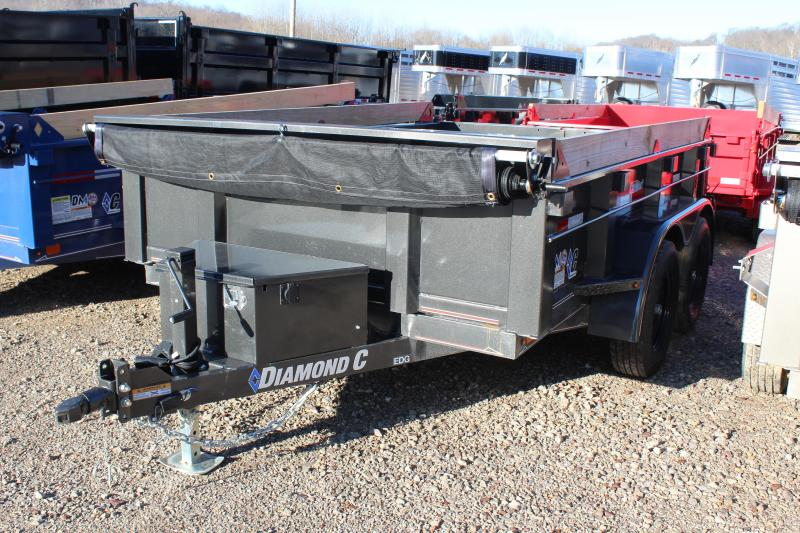 "2019 Diamond C 77""x10' Deluxe Dump Trailer"