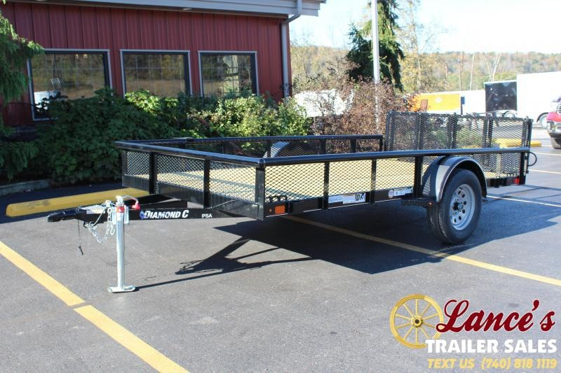"2020 Diamond C 2PSA 77""x12' Utility Trailer"