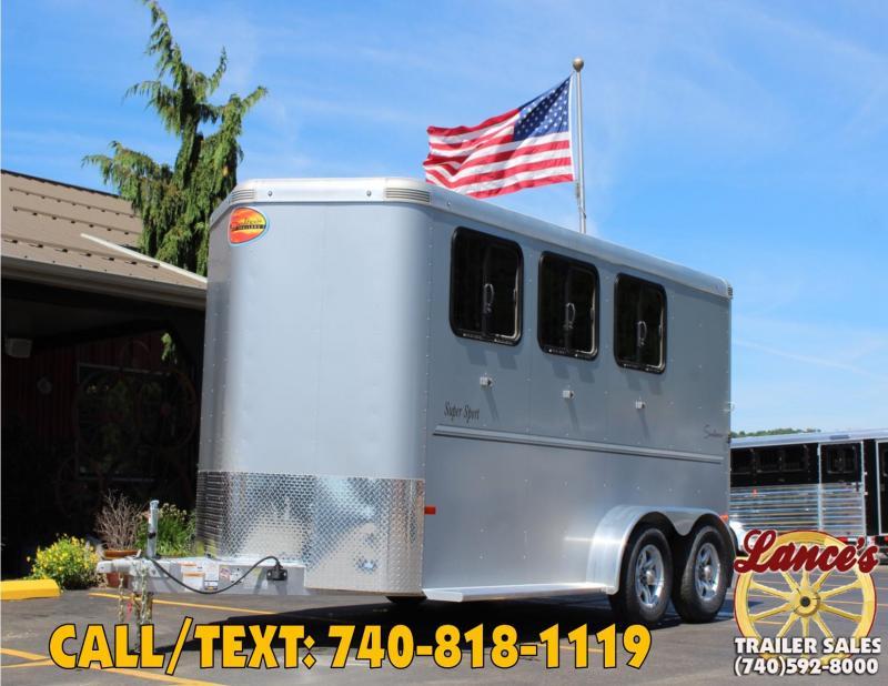 2020 SUNDOWNER 3 HORSE BUMPER PULL SLANT LOAD TRAILER