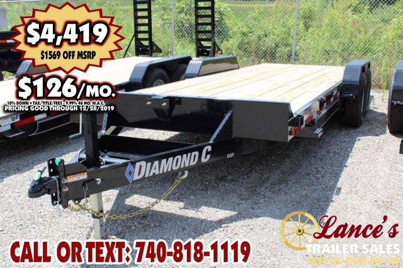 "2019 Diamond C 82"" x 20Ft. Equipment Trailer"