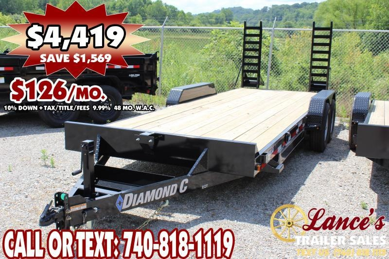 "*DEMO* 2019 Diamond C 82"" x 20Ft. Equipment Trailer"