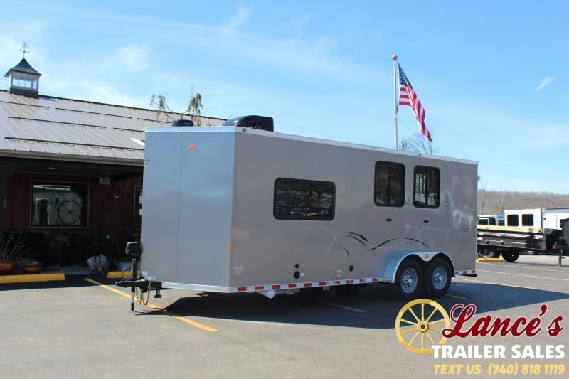 * DEMO*  2020 Harmar 2 Horse Slant Load Living Quarters Trailer