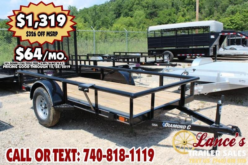 "2019 Diamond C 60""x10' SINGLE- Utility Trailer"