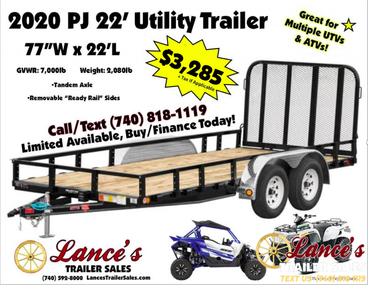 2020 PJ Trailers 22Ft. Utility Trailer