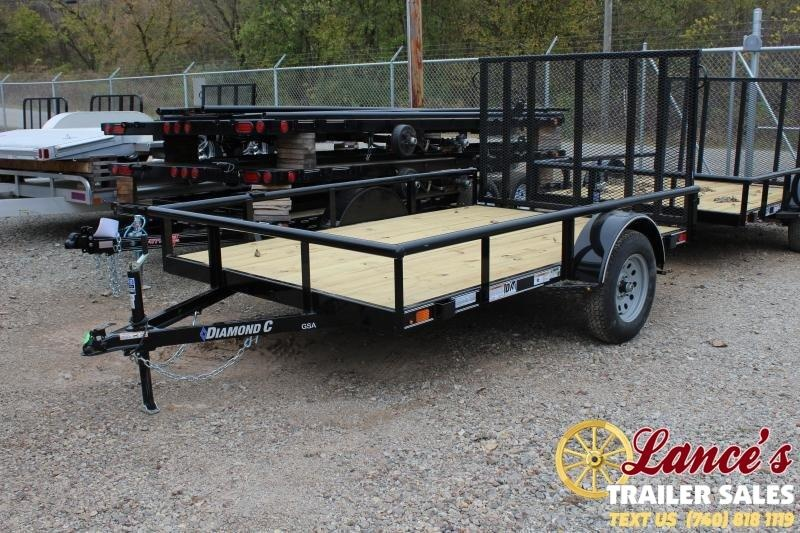 "2020 Diamond C 77"" x 10Ft. Utility Trailer"