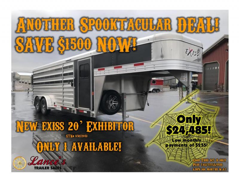 2019 Exiss Exhibitor 20' Lo-Pro Gooseneck Show Trailer w/ Air Gaps