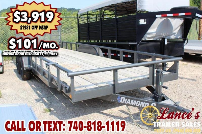 "2019 Diamond C 82"" x 22Ft. Equipment Trailer"