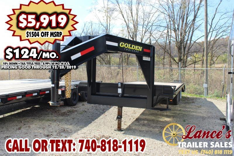 2019 Golden 25 Ft. Equipment Trailer