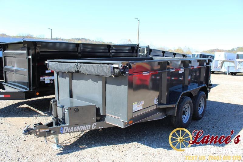 "2020 Diamond C 77"" x 12Ft. Dump Trailer"