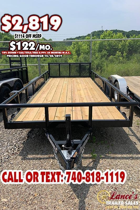 "2019 Diamond C 83"" x 16 Ft. TANDEM Axle Utility Trailer"