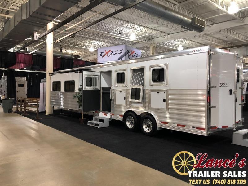 2020 Exiss Endeavor 4 Horse w/ 16' Shortwall with Slide Living Quarters