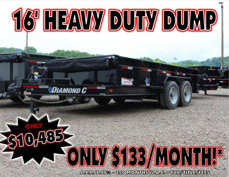 "2019 Diamond C 82""X16' Heavy Duty Dump Trailer"