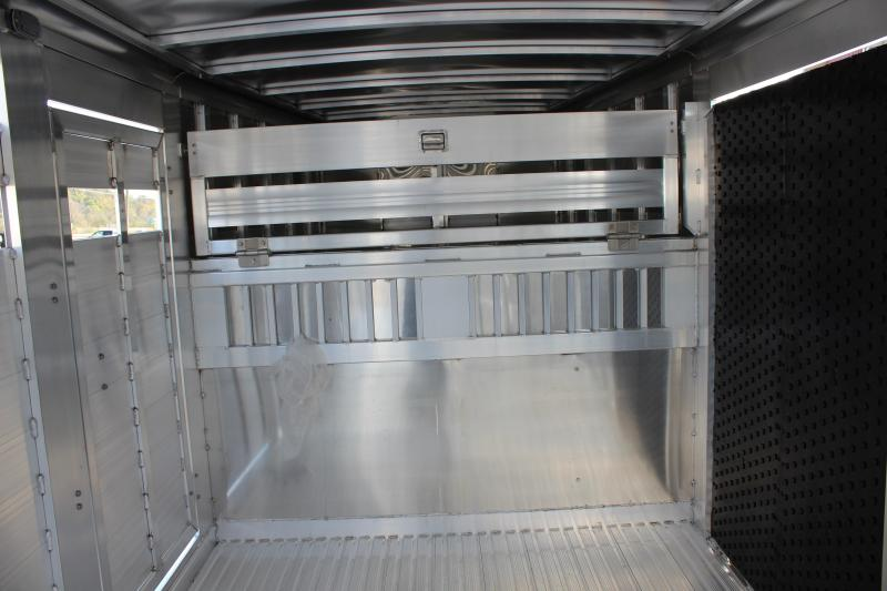 2020 Featherlite 8127 7x24 Show Cattle Trailer w/Stainless Front & Ramp
