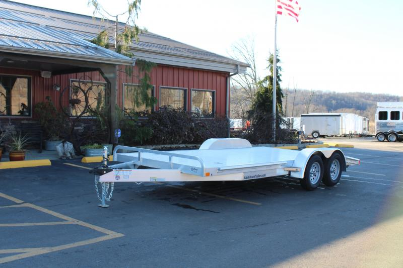 "2019 ATC Arrow 82""x18' Aluminum Open Car Hauler-7K-Torsion"