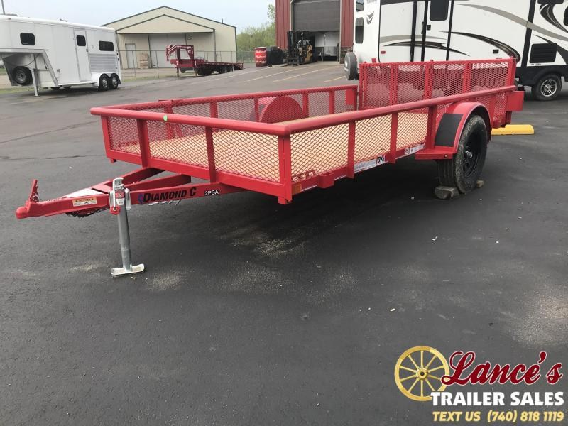 "2019 Diamond C 2PSA 77""x12' Utility Trailer K1210044"