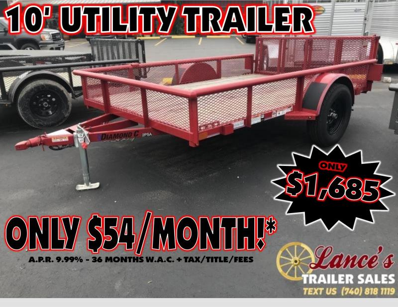 "2019 -Diamond C  77""x10' Utility Trailer"