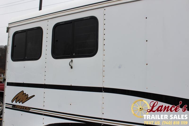 2001 Merhow Trailers 2 Horse Slant Load Horse Trailer