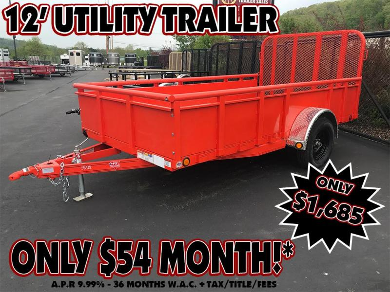 "2019 PJ 77""X12' Utility Trailer"