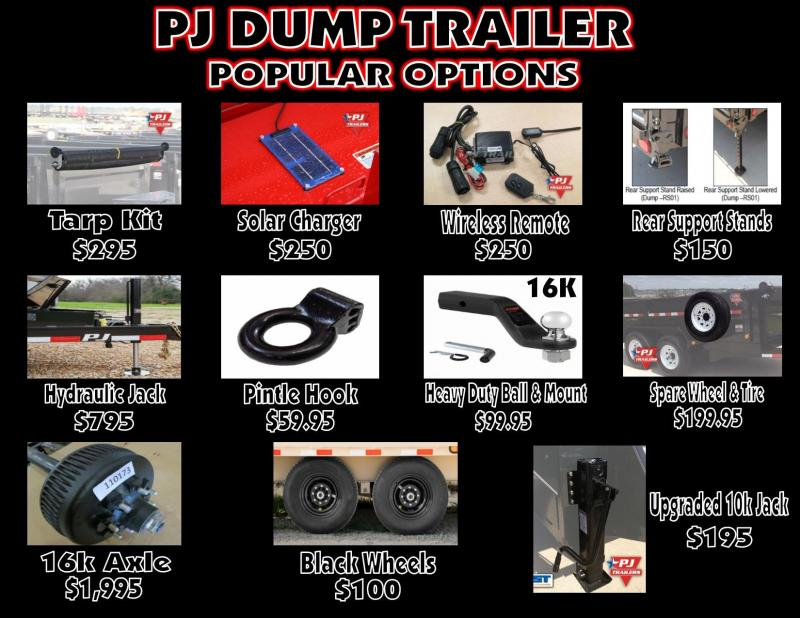 "2020 PJ 83"" x 16Ft. Dump Trailer"