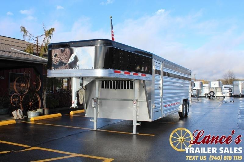 2020 Featherlite 24ft. Presidential Show Cattle Livestock Trailer