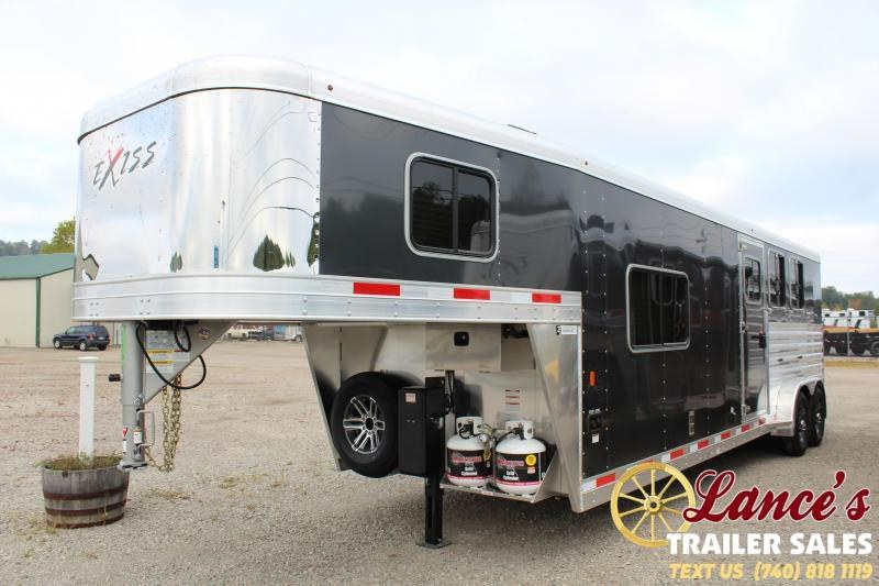 2020 Exiss Express CXF 3 Horse Living Quarters Trailer