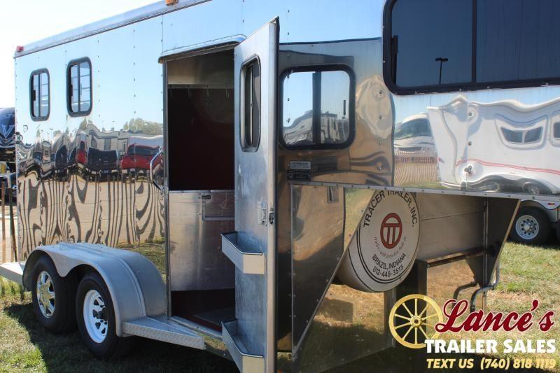 1995 Tracer 2 HORSE SLANT LOAD Trailer