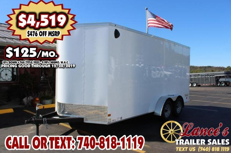 2020 Haulmark 7Ft. x 16Ft. TANDEM AXLE Enclosed Cargo Trailer