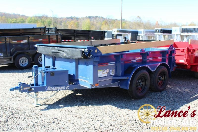 "2020 Diamond C 77"" x 10Ft. Deluxe Dump Trailer"