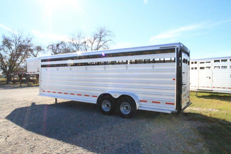 2018 Logan Coach 24' Stockman Livestock Trailer