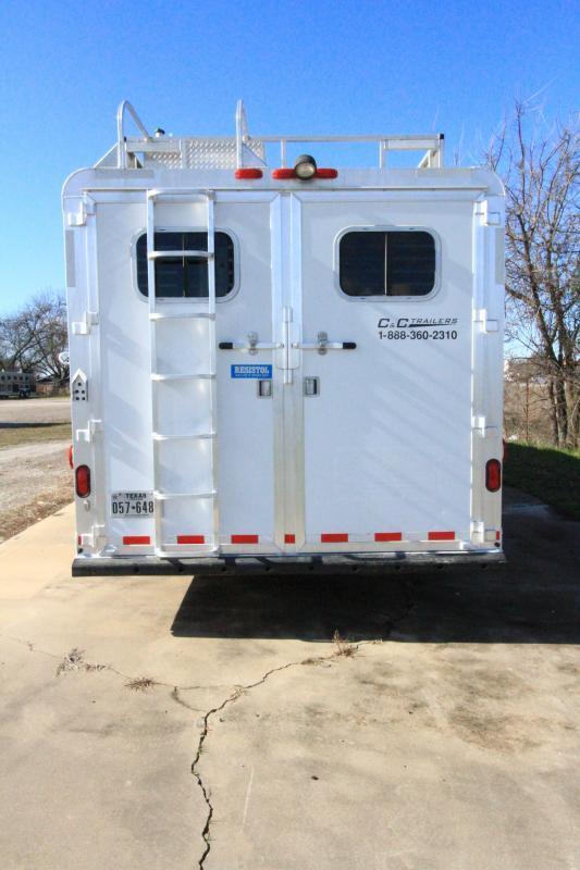 2004 C and C 4H 12' SW LQ Horse Trailer