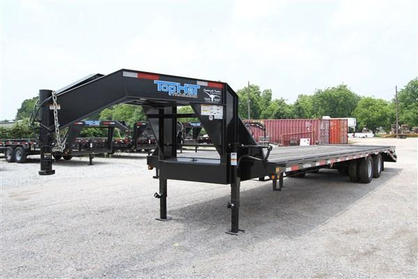 2019 Top Hat 27 + 5 GN Dovetail Flatbed w/ Jumbo Ramps