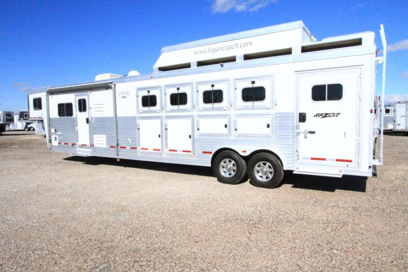 2013 Logan Coach Razor 4H 14' SW LQ Horse Trailer