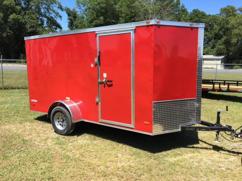 2019 6X12 Single Axle Enclosed Cargo Trailer