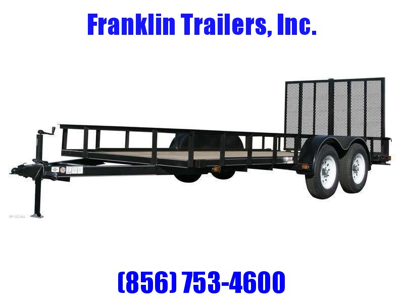 2020 Carry-On 6X14 7000 lbs. GVWR 6 ft. Tandem Wood Floor Utility Trailer 2021948