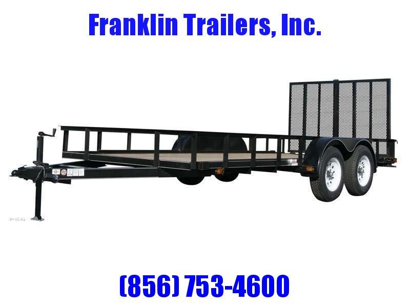 2020 Carry-On 6X14 7000 lbs. GVWR 6 ft. Tandem Wood Floor Utility Trailer 2021696