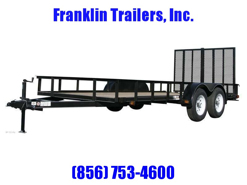 2019 Carry-On 6X14 7000 lbs. GVWR 6 ft. Tandem Wood Floor Utility Trailer 2020929