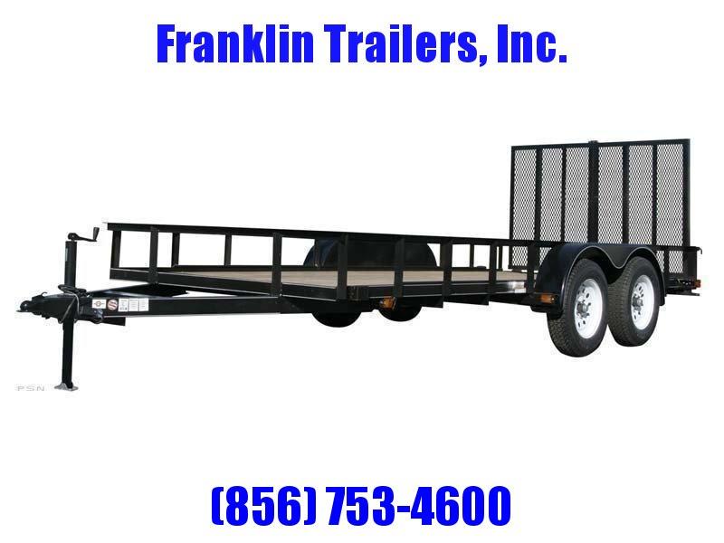 2020 Carry-On 6X14 7000 lbs. GVWR 6 ft. Tandem Wood Floor Utility Trailer 2021698