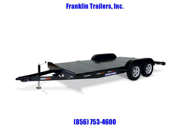 2020 Sure-Trac 7 x 18 Steel Deck Car Hauler  7k STOCK# 2022056