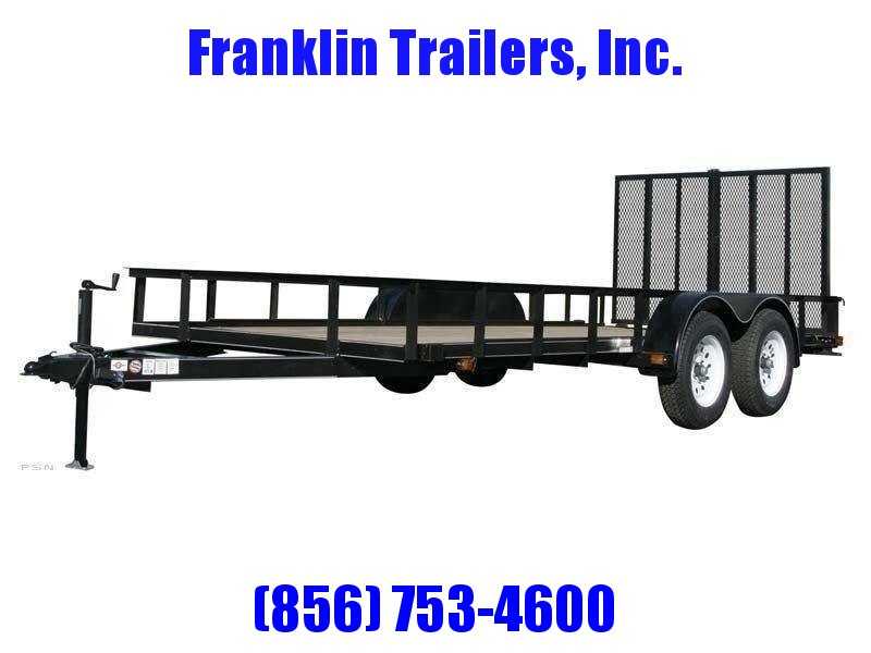 2020 Carry-On 6X14 7000 lbs. GVWR 6 ft. Tandem Wood Floor Utility Trailer 2021622