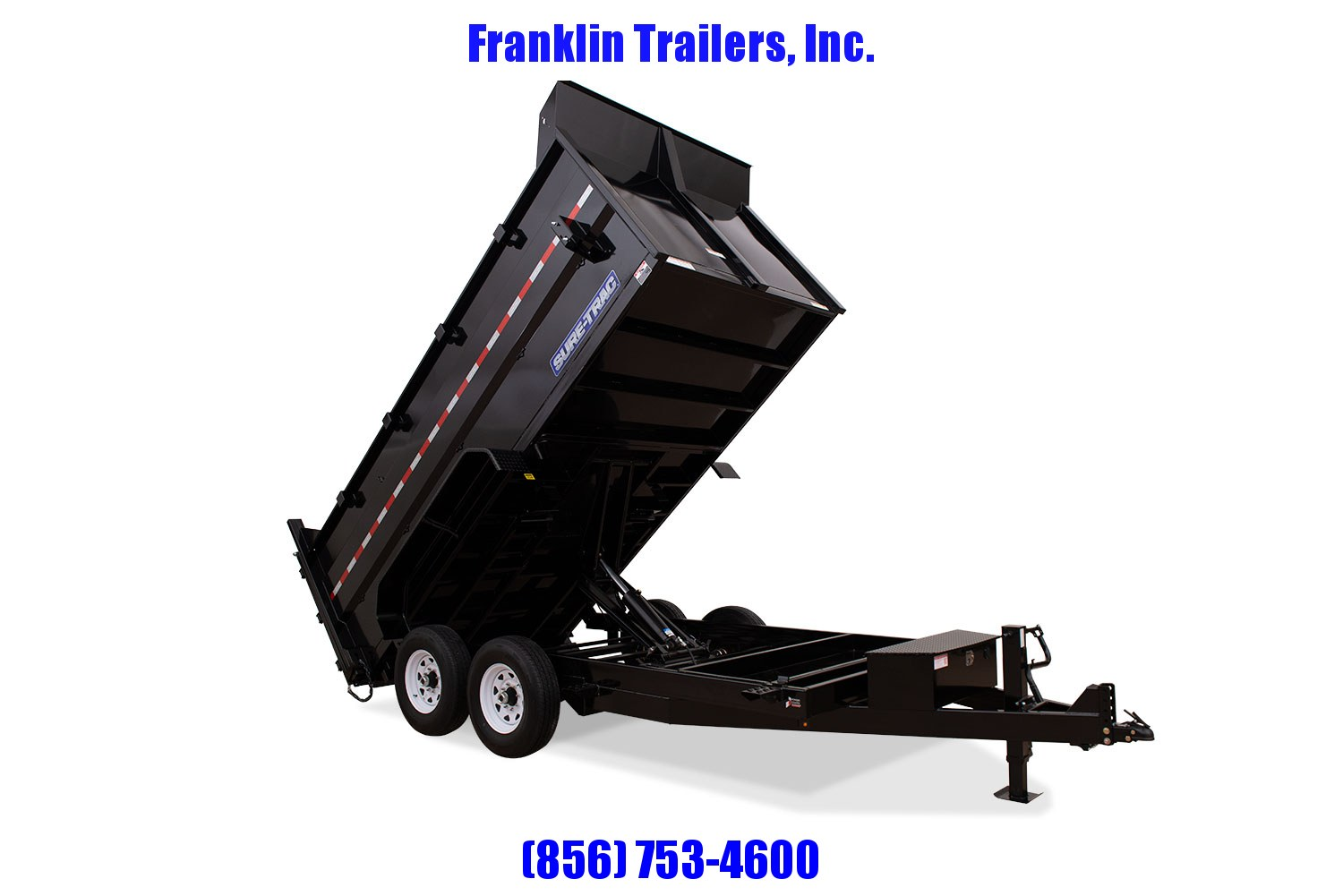 2020 Sure-Trac 82 IN X 14 LP 14K Dual Ram Dump 4ft Side  STOCK# 2022123