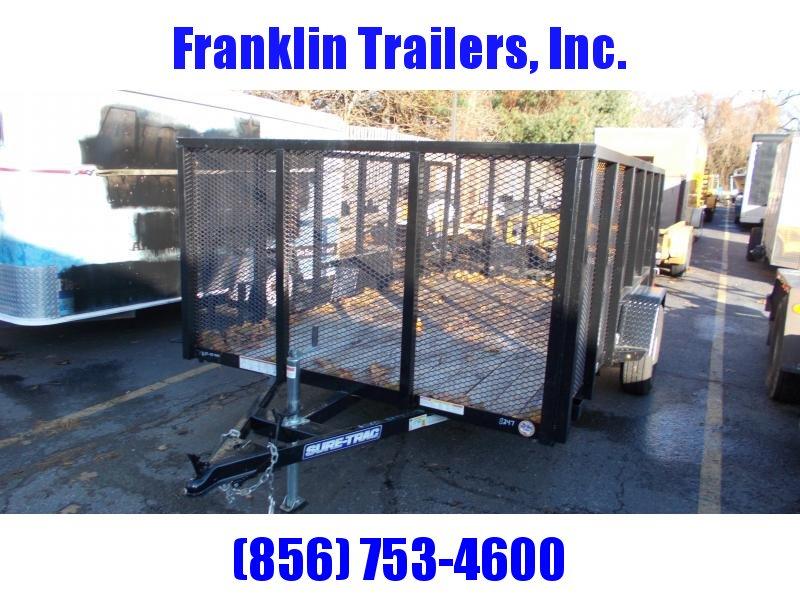 2019 Used Sure-Trac 7 X 12 SA Steel High Side Utility Trailer 2021288