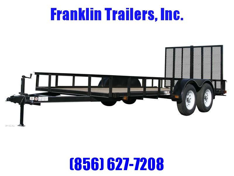 2019 Carry-On 6X14 7000 lbs. GVWR 6 ft. Tandem Wood Floor Utility Trailer 2020928