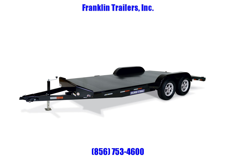 2020 Sure-Trac 7 x 18 Steel Deck Car Hauler  7k STOCK# 2022156