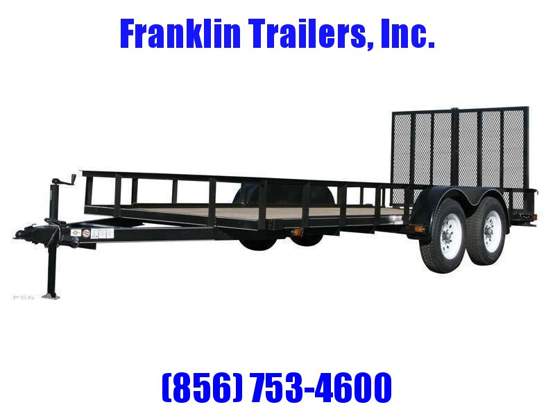 2020 Carry-On 6X14 7000 lbs. GVWR 6 ft. Tandem Wood Floor Utility Trailer 2021697