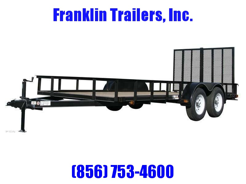 2020 Carry-On 6X14 7000 lbs. GVWR 6 ft. Tandem Wood Floor Utility Trailer 2021697