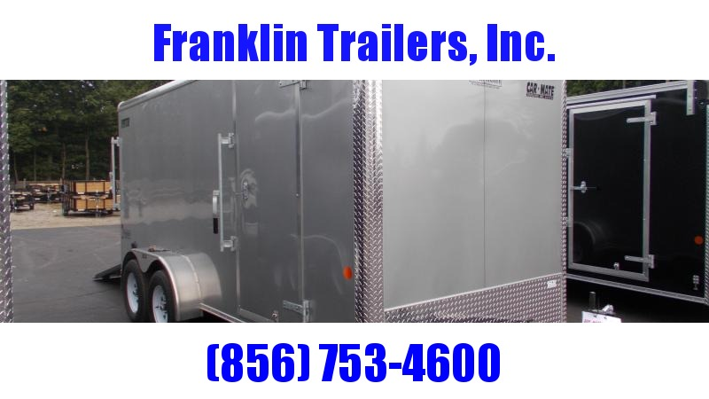 """2020 Car Mate 7X16 Tandem Axle Enclosed Cargo Trailer w/ 6"""" Additional Height  2022494"""