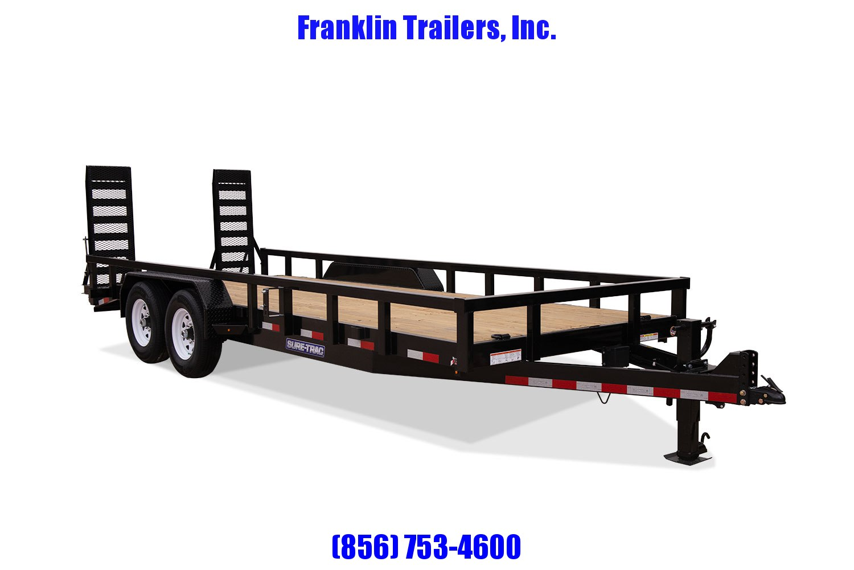 2020 Sure-Trac 7 x 20 14K Heavy Duty Equipment Trailer STOCK# 2022059