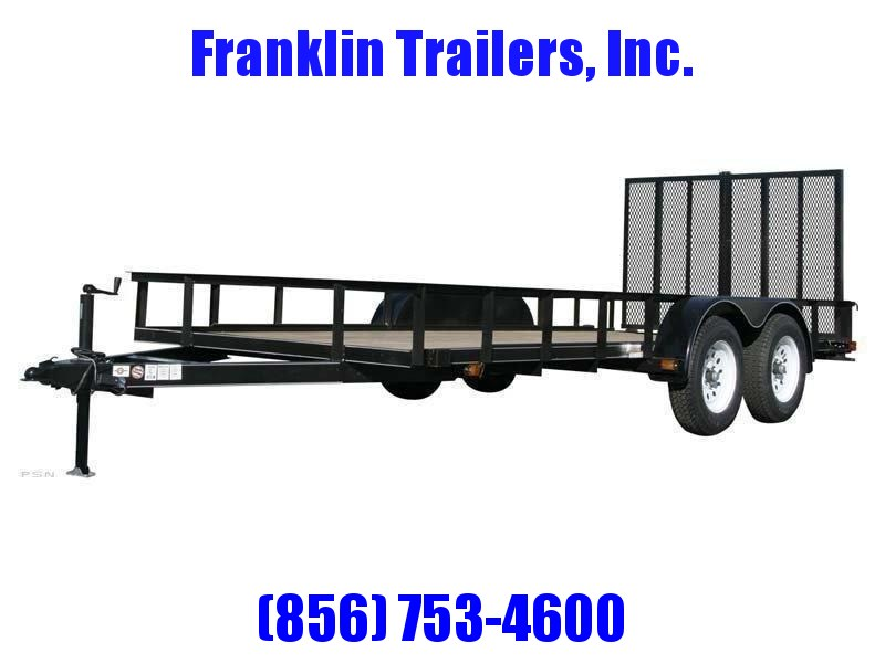 2020 Carry-On 6X14 7000 lbs. GVWR 6 ft. Tandem Wood Floor Utility Trailer 2021621